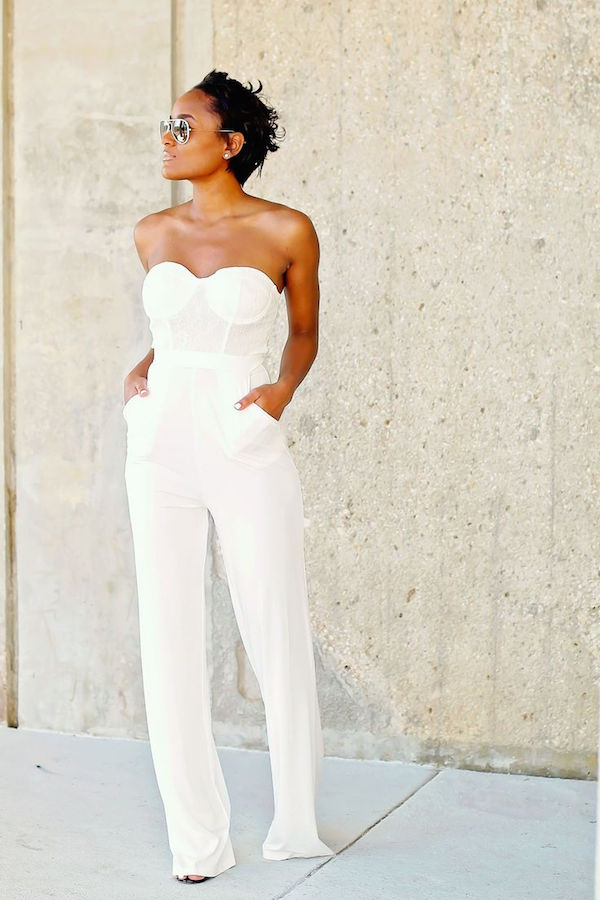 Daileigh White JumpSuit