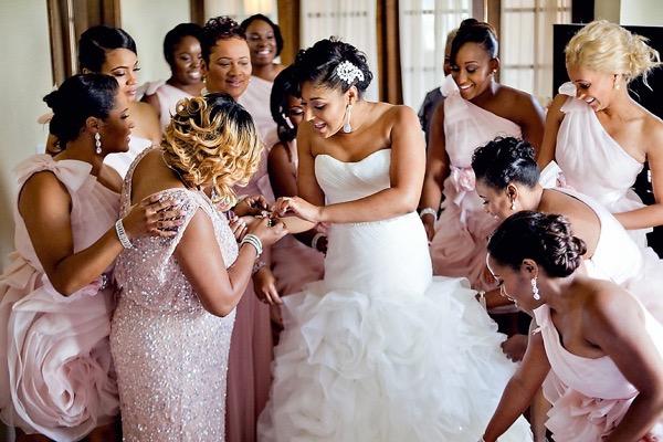 Pink and Silver Summer Wedding by UBARA 21