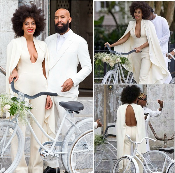 Solange Knowles Backless Caped Jumpsuit