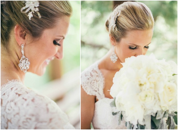 earring and bouquet
