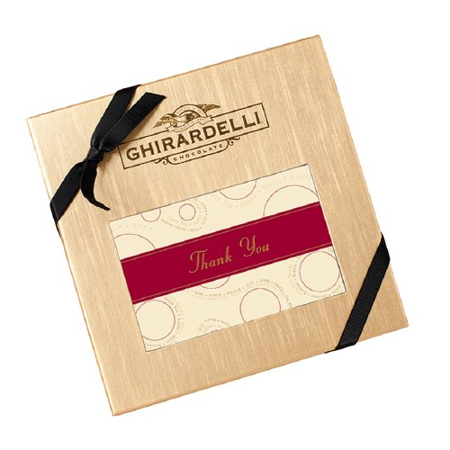 Ghiradelli Gold Thank You Box