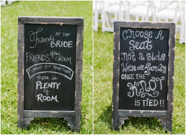 Ceremony signs