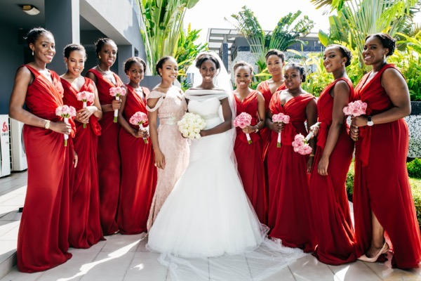 Pink and Red Bridesmaids- Lara and Ire