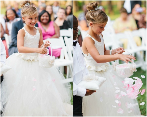 flower girl aisle perfect