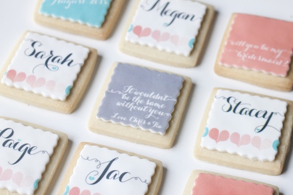 Bridesmaid Cookies by Megan Rappel Designs