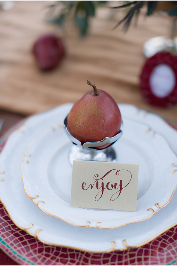 Marsala place setting