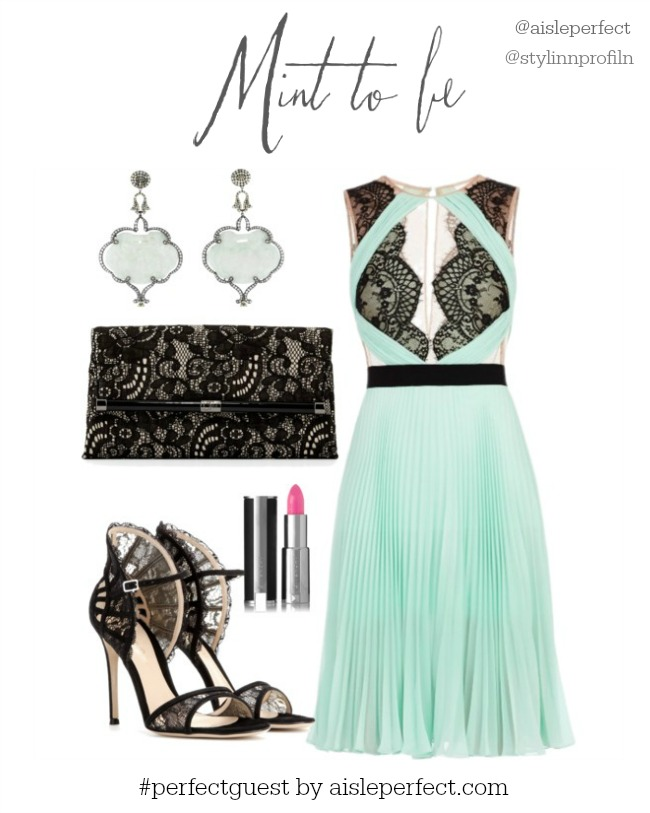 Mint Wedding Guest by Aisle Perfect