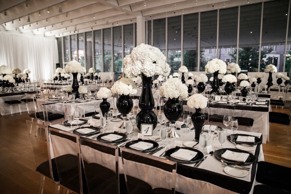 Modern Black and White Museum Wedding 102