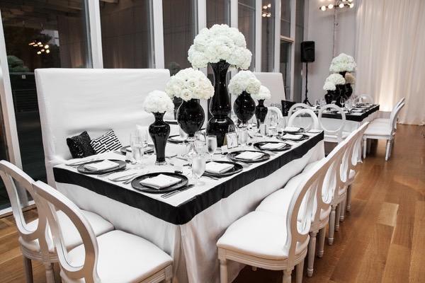 Modern Black and White Museum Wedding 113