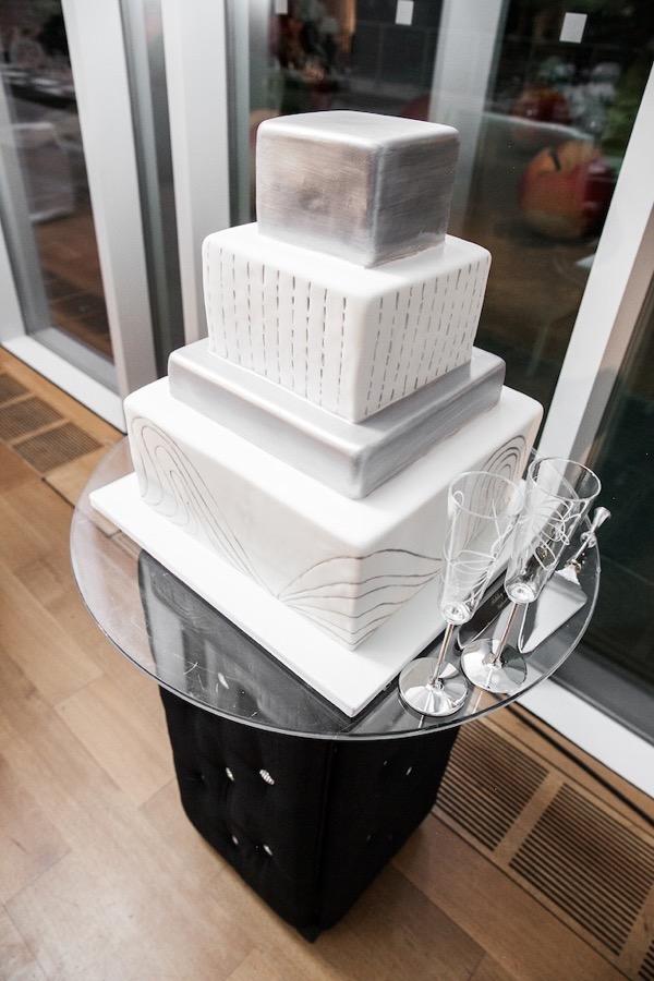 Modern Black and White Museum Wedding 116