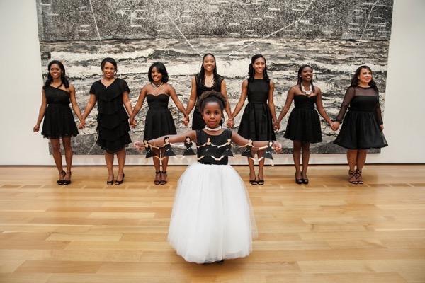 Modern Black and White Museum Wedding 14