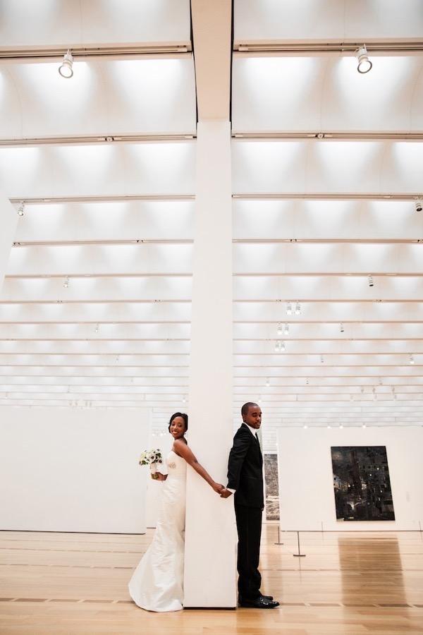 Modern Black and White Museum Wedding 23