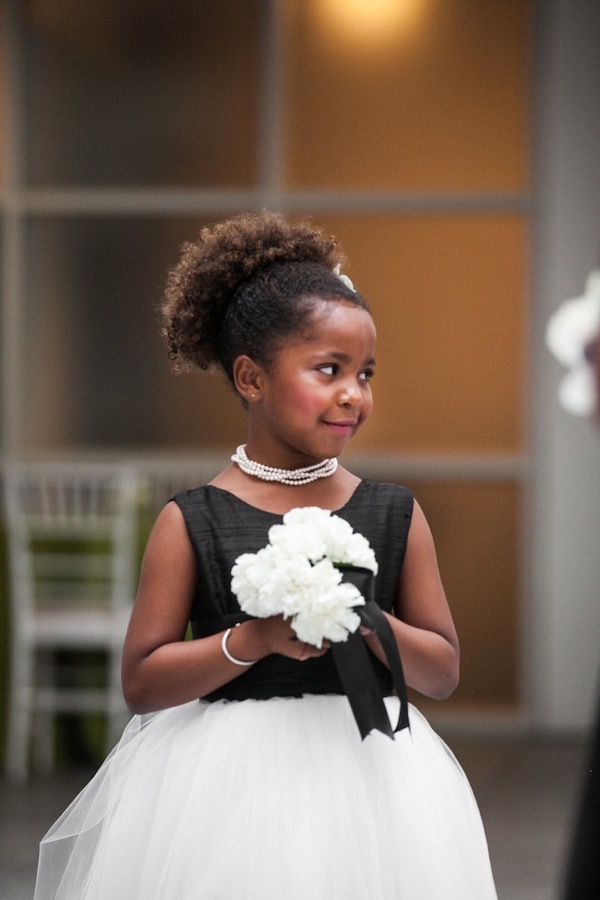 Modern Black and White Museum Wedding 27
