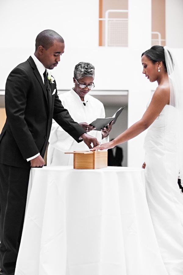 Modern Black and White Museum Wedding 36