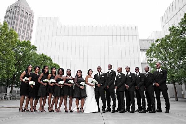 Modern Black and White Museum Wedding 41