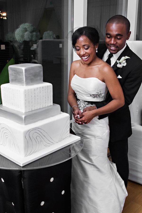 Modern Black and White Museum Wedding 61