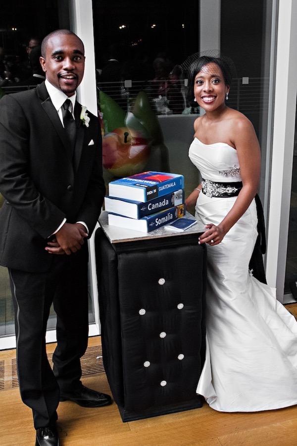 Modern Black and White Museum Wedding 62