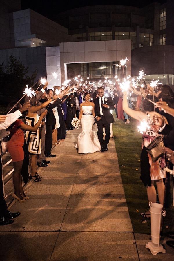 Modern Black and White Museum Wedding 63
