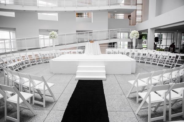 Modern Black and White Museum Wedding 71