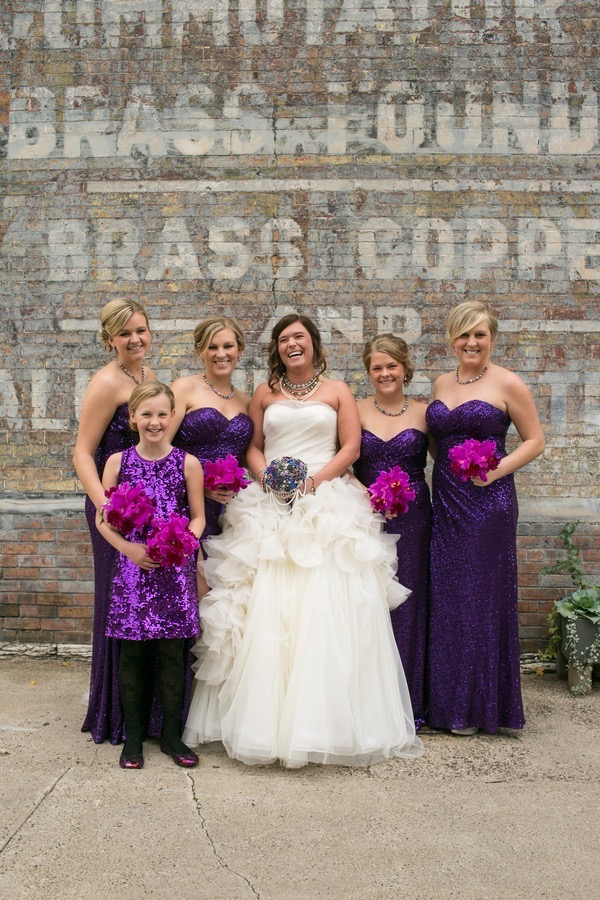 Sparkly Purple and Gold Wedding 26