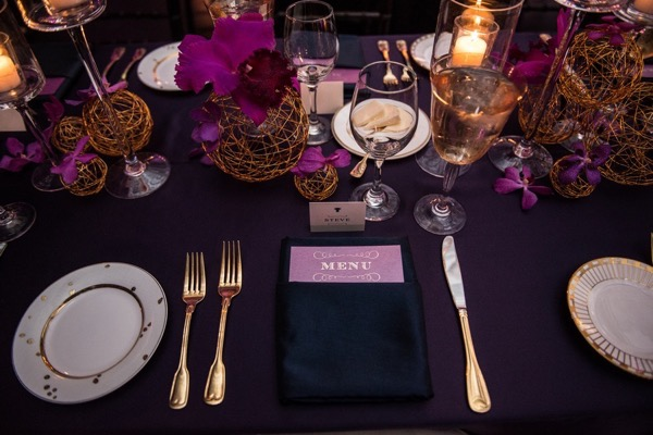 Sparkly Purple and Gold Wedding 46