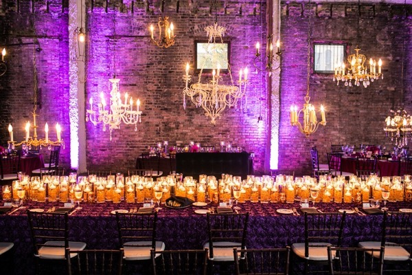 Sparkly Purple and Gold Wedding 54