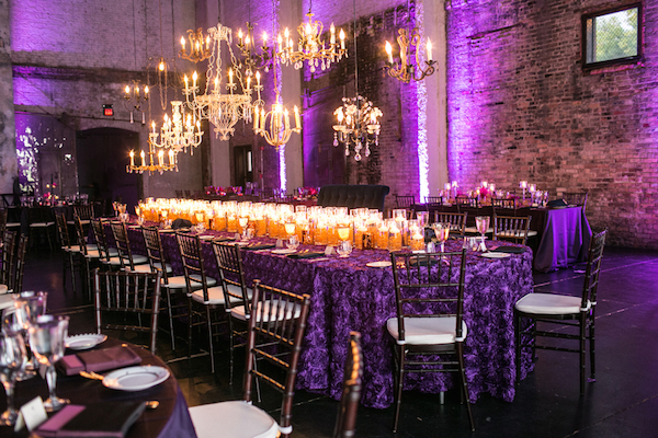 Sparkly Purple and Gold Wedding by Erin Johnson Photography