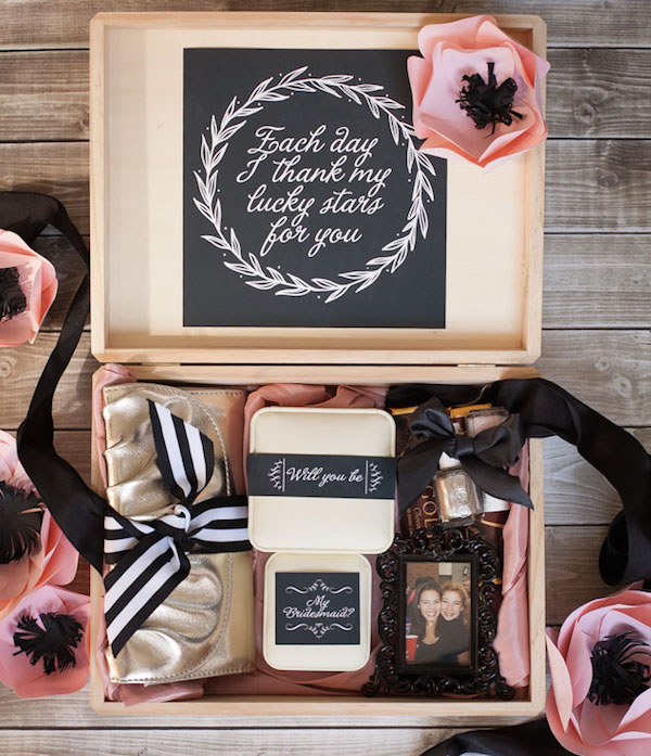 DIY Will You Be My Bridesmaid Box by Frog Prince Paperie