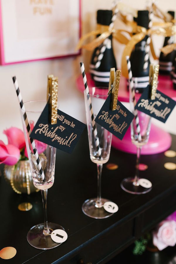 Kate Spade inspired Will You be my Bridesmaid Party by The Perfect Palette | Image by Lauren Rae Photography