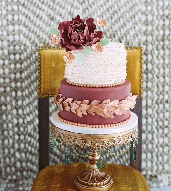 marsala mint and peach cake
