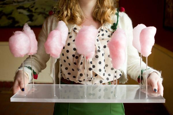 wedding cotton candy treats