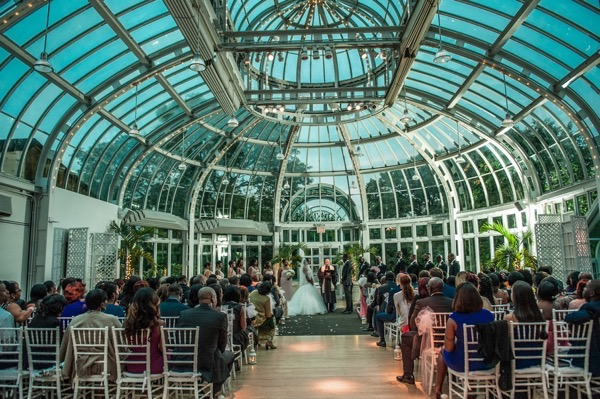 Brooklyn Botanic Garden Wedding Aisle Perfect