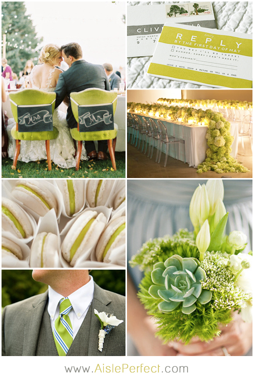 Chartreuse and Grey Wedding Inspiration