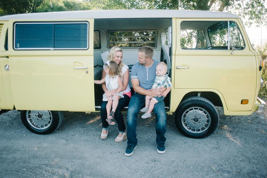 Colorful VW Bus Family Session 10