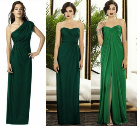 Deep green bridesmaids by dessy
