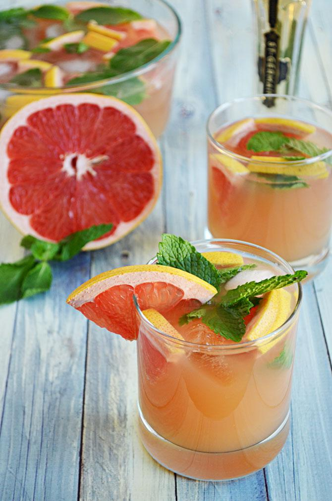 Ruby red grapefruit should provide a refreshingly tart spin on the mimosa.