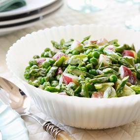 Fresh spring veggies add some much-needed greens to this holiday feast!