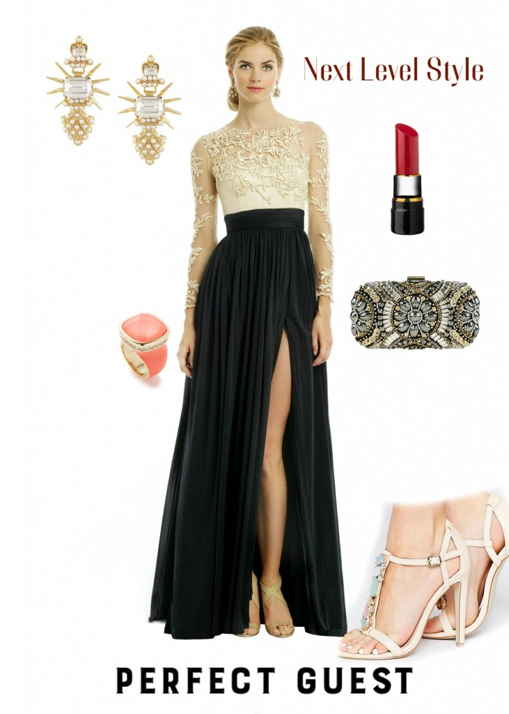 stylish formal wedding guest
