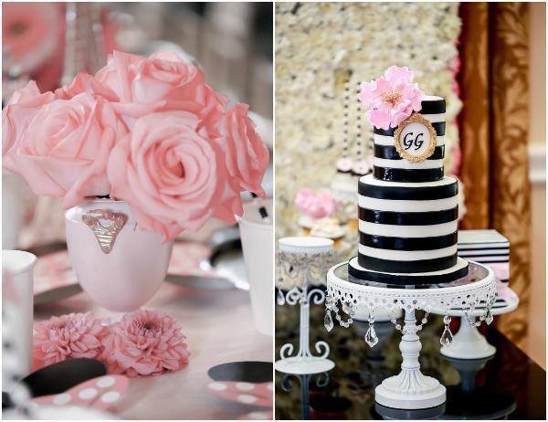 GG Black and White Birthday Cake