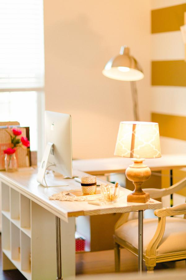 Gold and Polka Dot Home Office 2
