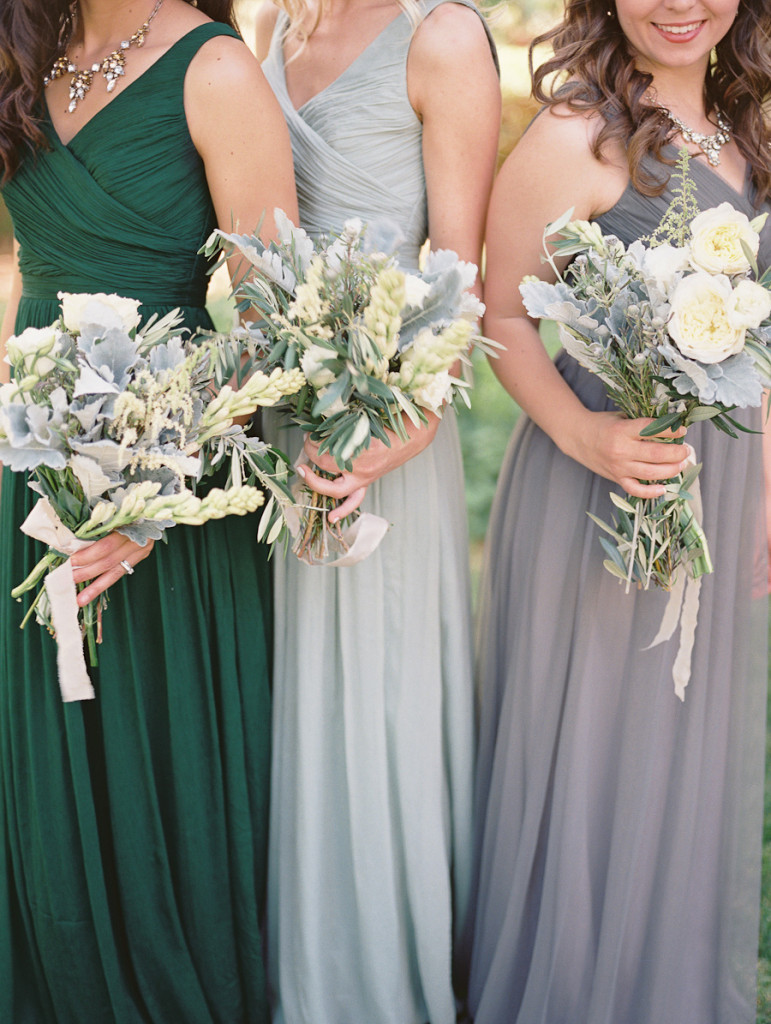Stunning muted J.Crew bridesmaids shot by Laura Nelson.