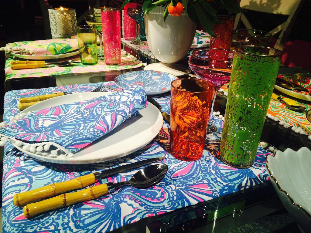 Table setting at the Lilly Pulitzer x Target Launch Party in NYC. Photo Courtesy of Target.
