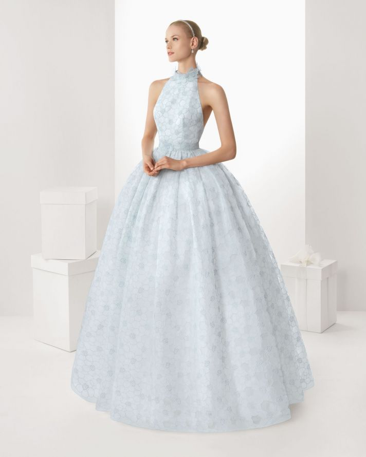 Rosa Clara Blue Ball Gown