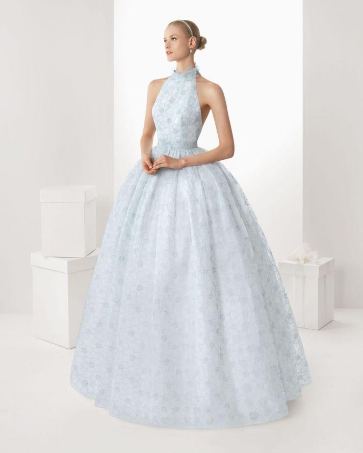 Rosa Clara Blue Ball Gown