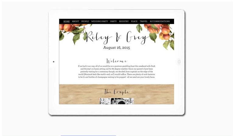 Stylish Luxury Wedding Websites by Riley & Grey