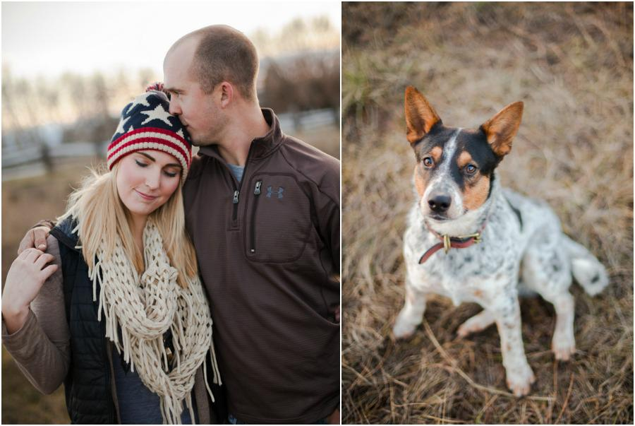 Sweet anniversary session featuring the cutest dog