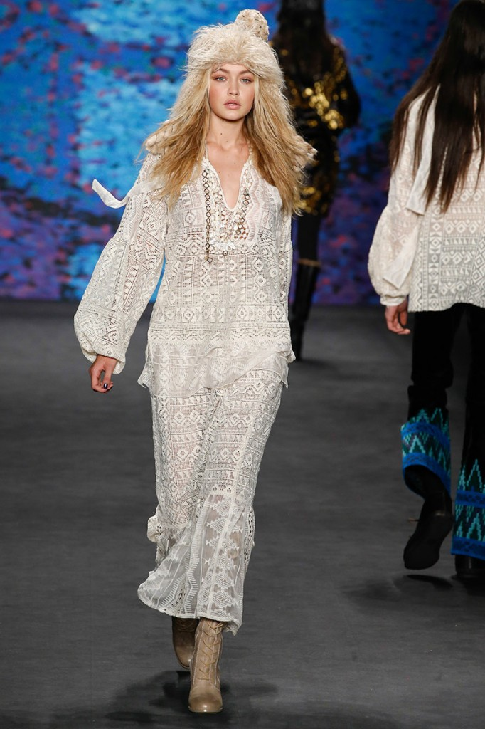 Anna Sui NYFW Fall 2015 Photo by Gianni Pucci, Indigitalimages.com