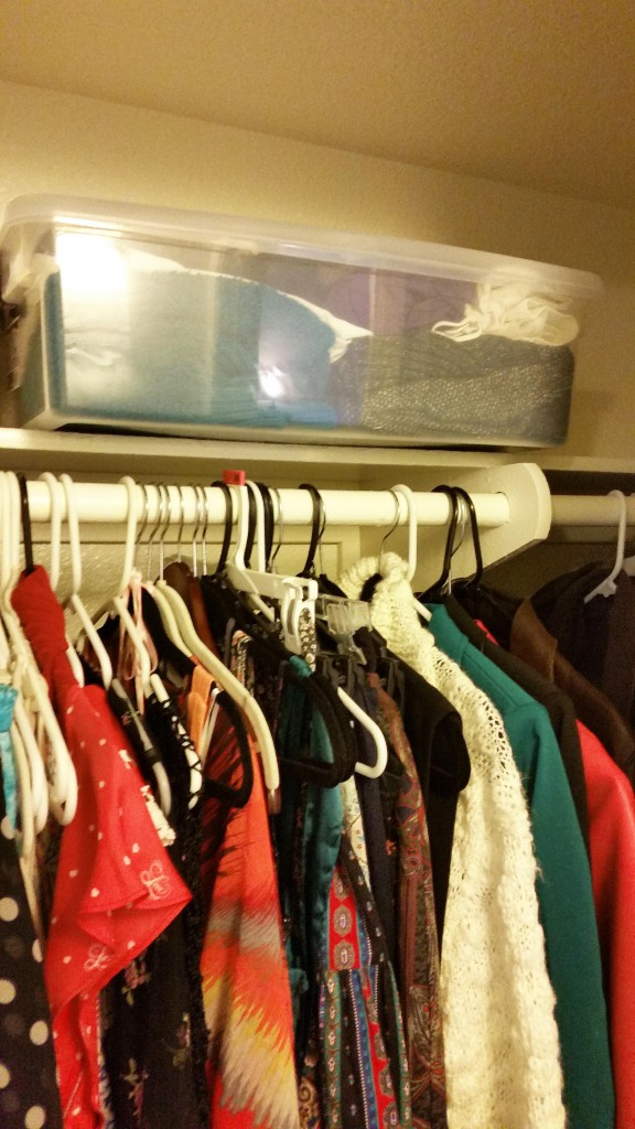 Plastic bins can fit a ton of winter clothes and keep them protected for the next season.