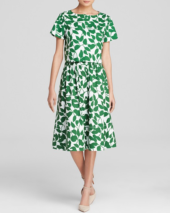 Kate Spade New York Garden Leaves Crop Top $148 and Skirt $298 at Bloomingdale's.
