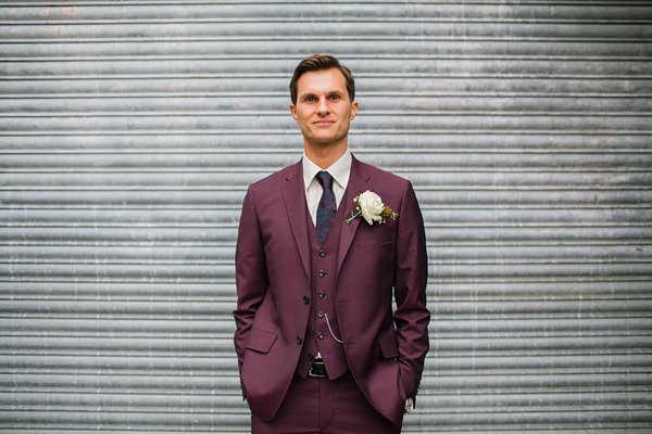 Burgundy Suit by Paul Smith shot by Emma Case Photography.